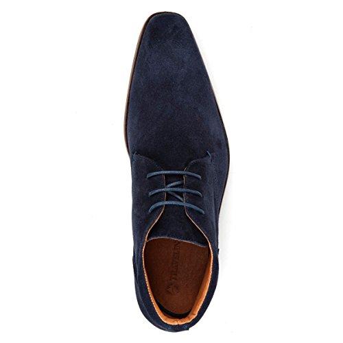 Travelin Gatwick Suede Derby Schnürhalbschuhe Herren   Freizeitschuhe Hochzeitschuhe   Business Schuhe Anzugschuhe   Wildleder Blau 44 EU