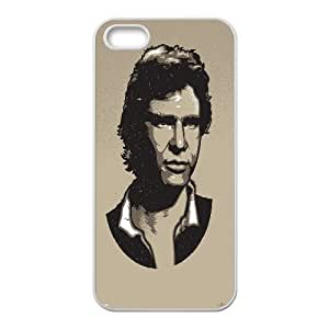 iPhone 5,5S Cases, Girly Protective Han Solo Portrait Cases For iPhone 5,5S {White} Kimberly Kurzendoerfer