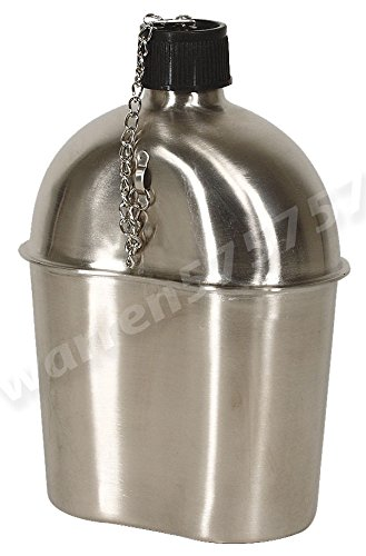 G.I. Style 1 Qt. STAINLESS STEEL CANTEEN by G.A.K 90026