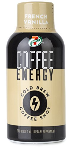 7-Select Cold Brew Coffee Energy Shots, French Vanilla, 2 oz, 12 pack