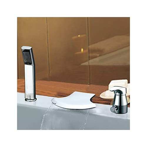 85%OFF Bathtub Faucet Contemporary Waterfall/Sidespray Stainless Steel Chrome