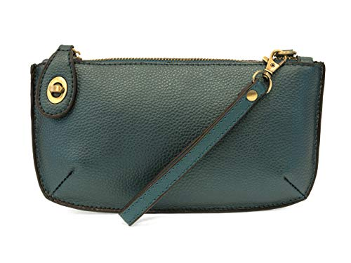 (Joy Susan Women's Mini Crossbody Wristlet Hangbag Clutch, Metallic Turquoise, One-Size)
