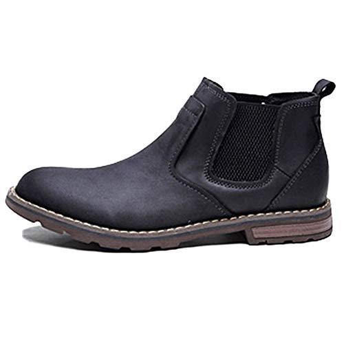Scarpe da in Alte Chelsea Boots Martin Sposa Stivali Pelle Desert Brogue in da Pelle Autunno Uomo Uomo E Classic Black Scarpe Inverno ZxwqgHT