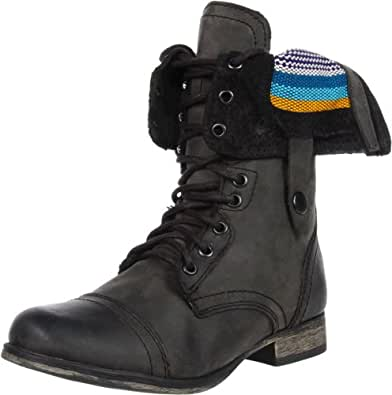 Steve Madden Women's Camarro Ankle Boot,Black Distress,5 M US