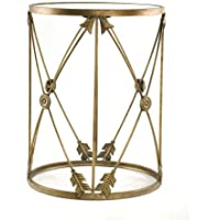 InnerSpace Luxury Products Large Barrel Table with Arrows