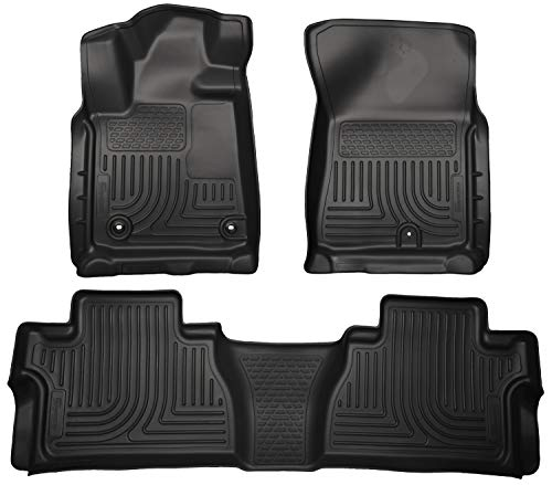 (Husky Liners 99581 Black Weatherbeater Front & 2nd Seat Floor Liners Fits 2014-2019 Toyota Tundra CrewMax Cab)