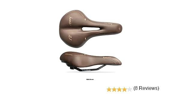 Selle Esse Sillín de Bicicleta de Trekking Hombre Modelo WENS 2.1 Cuero Genuino + Gel para Bicicleta de Ciudad Hecho a Mano en Italia 2020, Hombre, marrón: Amazon.es ...