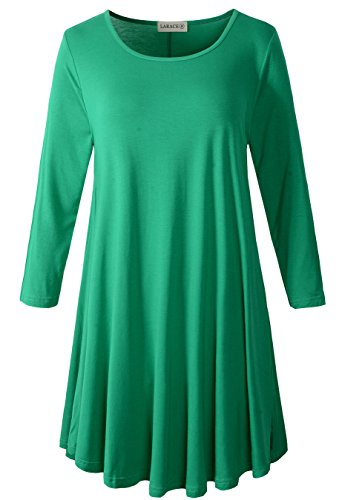 3/4 sleeve casual summer dresses - 8