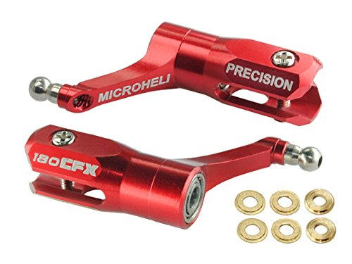Microheli Main Blade Grip w/ Thrust Bearing/Titanium Ball (R) - BLADE 180 CFX