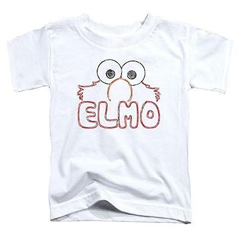 Sesame Street Toddlers Elmo Letters T-Shirt, 4T, White - Elmos Letter