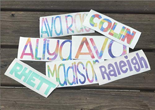 Name Personalized Decal DIY Sticker for Kids Lunch Boxes Tumblers Cups Flower Girl Ring Bearer Gift -