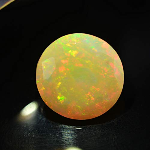 Lovemom 3.67ct Natural Round Unheated Multi-Color White-Opal Ethiopia #W by Lovemom (Image #1)
