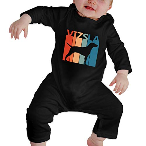 GOOD BBBaby Newborn Baby Girl Infant Printed Funny Vizsla Puppy Dog Cartoon Bodysuit Outfits Clothes Black