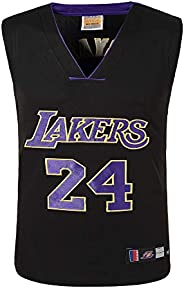 NBA Basketball Clothes Lakers No. 24 Kobe Jersey, Embroidery Two-Piece Suit,Sweat, Comfortable Sports Outdoor