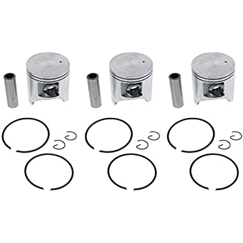 Piston Kit for Arctic Cat ZRT 600 1995-2000 Snowmobile by Race-Driven x3