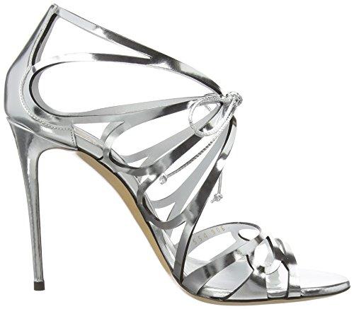 Casadei 1lb20d - Sandalias Mujer Plateado - Silber (ARGENTO)