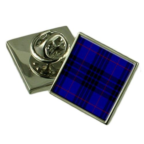 (Tartan Clan MacKay Silver 925 Lapel Pin Badge)