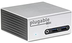 Plugable Universal Usb 3.0 Docking Station With Dual Video Outputs & 4k Support For Windows 10, 8.1, 7 (Hdmi & Dvivga, Gigabit Ethernet, Audio, 4 Usb 3.0 Ports, Vesa Mount Aluminum Mini)
