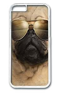For HTC One M9 Case Cover; Covers -Aviator Pug Polycarbonate Hard Case Back For HTC One M9 Case Cover Transparent