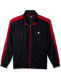 Men's Full-Zip Athletic Track Jacket