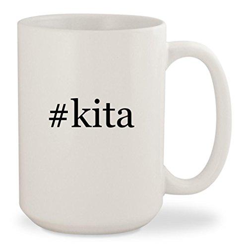 #kita - White Hashtag 15oz Ceramic Coffee Mug (Ikki Air Gear Costume)