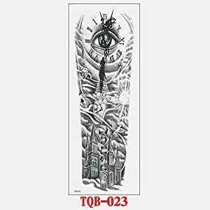 9 piezas impermeable tatuaje pegatina niña niña foto flor ...