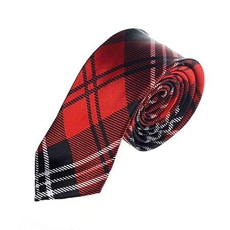 JEOSNDE 2020 nuevos Hombres de la Tela Escocesa Corbata Casual for ...