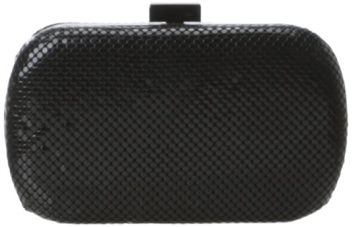 Whiting & Davis Minaudiere Evening Bag,Black,one size by Whiting & Davis