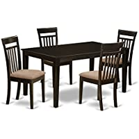 East West Furniture CAP5S-CAP-C 5-Piece Formal Dining Table Set