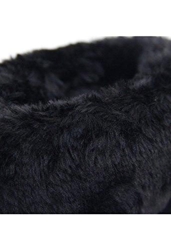Lydc London Signore Vera Pelle Scamosciata Caldo Soffici Stivali Inverno Slip Stivali Frange Kilt Foderato In Pelle Vendita Scarpe Di Frange Nere
