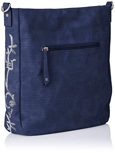 Mujer 61011 22 navy 2 Comb Marco Shoppers Tozzi Bolsos Hombro 2 De Y Azul Igwtgqv