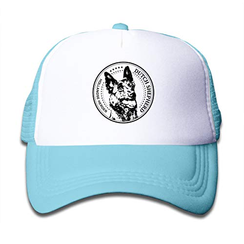 Aiw Wfdnn Funny Dutch Shepherd Mesh Baseball Cap Girl Adjustable Trucker Hat Sky Blue