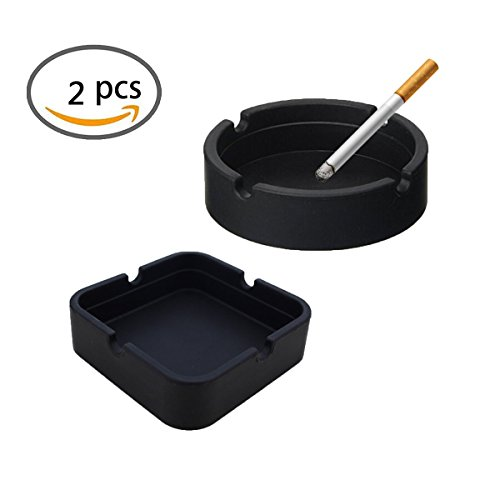 KWJOY Round and Square Design Silicone Rubber High Temperature Heat Resistant Cigar ()