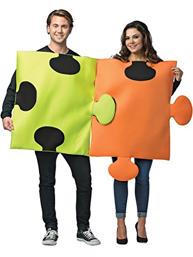 Creative Halloween Costumes For Couples (Puzzle Pieces Couple Costume -)