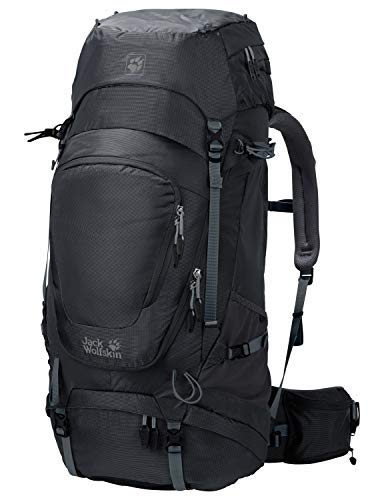 Jack Wolfskin Highland Trail XT 60l Men's Internal Frame Hiking Backpack with Rain Cover, Phantom [並行輸入品]   B07R3SSLS9