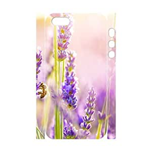Cool Painting Lavender Customized 3D Cover Case for Iphone 5,5S,custom phone case case-331412