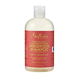Shea Moisture Fruit Fusion Coconut Water Weightless Shampoo, 13 Ounce