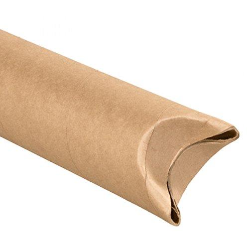 Kraft Crimped End Mailing Tubes - RetailSource S2512Kx15 2 1/2 x 12 Kraft Crimped End Mailing tubes (Pack of 15)