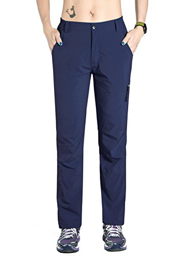 Nonwe Women's Outdoor Light Weight Breathable Quick Dry Jogger Pants Blue Granite L/32 Inseam