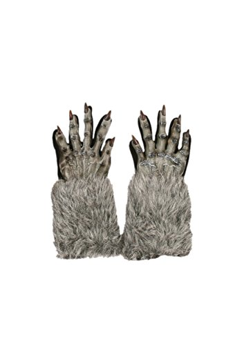 Fun World Grey Werewolf Gloves - -
