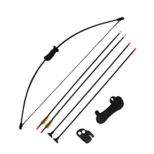 Archery Training Kids Bow Longbow Children Junior Gift Toy Outdoor (Longbow Bow)
