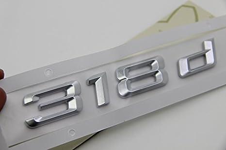 E881 318d Emblem 318 D Schriftzug Badge Auto Aufkleber 3d Car Sticker Chrom Abziehbild Auto