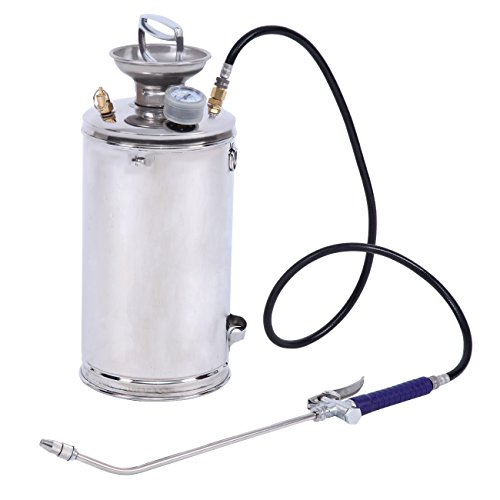 XuanYue Sprayer Stainless Steel Backpack Sprayer Hand-Pumped Sprayer 1.5 Gallon Professional Sprayer