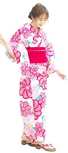 ご意見禁じる以内に(ディータ) Dita 本格 女性 浴衣 すぐにお出かけフルセット 浴衣本体(ゆかた)?作り帯(つくりおび)?下駄(ゲタ) の基本3点セット+着付けスタイルブック(冊子) の計4点 レディース