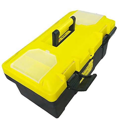 Homyl Portable Series Tool Box made with Industrial-Strength Plastic, 3 Size - as picture, 45x23x20 (Industrial Series Box)