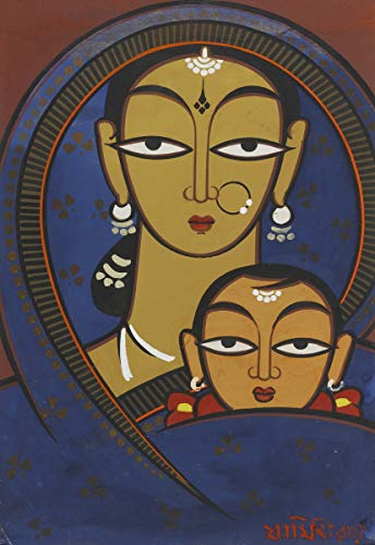 - Berkin Arts Jamini Roy Giclee Art Paper Print Art Works Paintings Poster Reproduction(Mother and Child) #XZZ