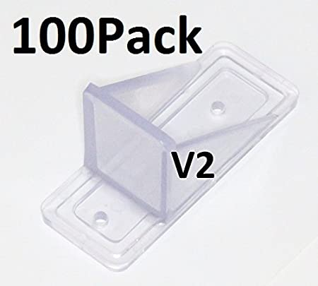 100 Pack Black  MINI Roof Guard Snow Sliding Ice Snow Stop Plastic ACRYLIC