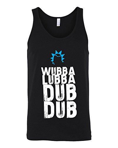 Revel Shore Rick and Morty Wubba Lubba Dub Dub Black Tank Top Rick Sanchez (Medium, Black) - Revel Tank