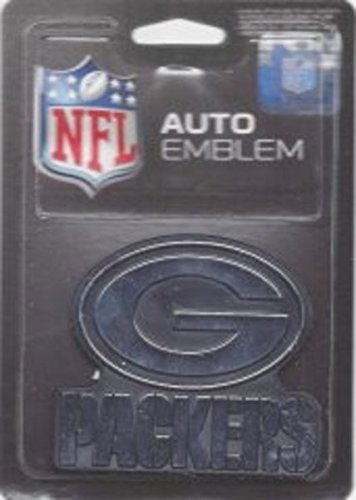 Rico Industries NFL Green Bay Packers Chrome Finished Auto Emblem 3D Sticker ()