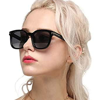 Myiaur Classic Sunglasses for Women Polarized Driving Anti Glare 100% UV Protection (BLACK, GREY)